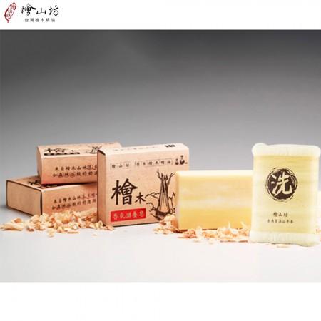 檜木香氛滋養皂100G*6塊(贈去角質沐浴手套)
