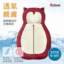 【CHINOOK】貓頭鷹造型兒童睡袋-M尺寸