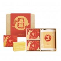 檜木造福禮盒(內含香氛滋養皂100g*2+沐浴手套*1)